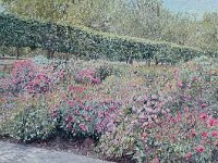 "002  ROSES IN HYDE PARK, LONDON  acrylic on canvas 18"" X 36""  $3000"