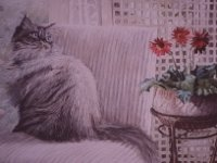 "012  A CAT NAMED ARMANI ACRYLIC ON CANVAS 24"" X 36"" IN A PRIVATE COLLECTION – MEMPHIS, TENNESSEE"