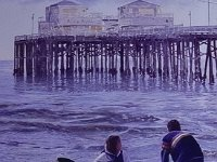 "052  MALIBU PIER ACRYLIC ON CANVAS 40"" X 30"" IN A PRIVATE COLLECTION – LOS ANGELES, CALIFORNIA"