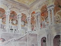 "063  RECEPTION IN THE LIBRARY OF CONGRESS WATERCOLOR ON PAPER 23"" X 18"" $4000"