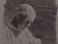 "070  PORTRAIT OF A DOCTOR PENCIL ON PAPER 28"" X 21"" IN A PRIVATE COLLECTION – LOS ANGELES, CALIFORNIA"